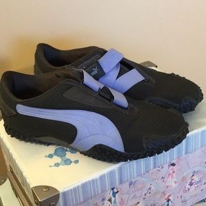 Black and Purple Puma Sneakers